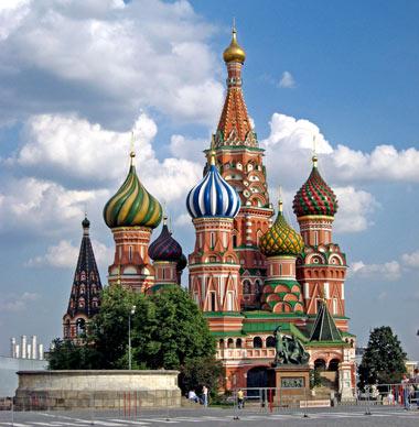 کلیسای سنت باسیل که از عجایب 7گانه روس هاست