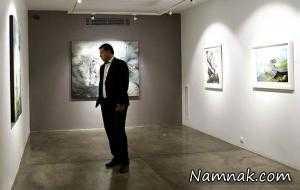 علی دایی در گالری شیرین مجذوب نقاشی های فرخ آذری + تصاویر