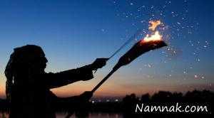 زنده سوزاندن 7 جادوگر! + تصاویر