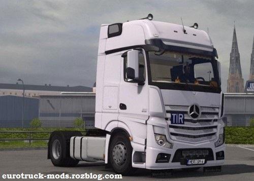 دانلود کامیون بی نظیر مرسدس بنز mp4 برای یورو تراک