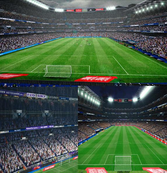 دانلود استادیوم سانتیاگو برنابئو استادیوم رئال مادرید برایpes 2016