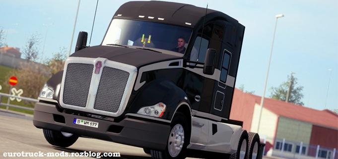 دانلود کامیون kenworth t680 برای یورو تراک