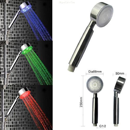 سردوش ال ای دی حمام LED حساس به دما اصل