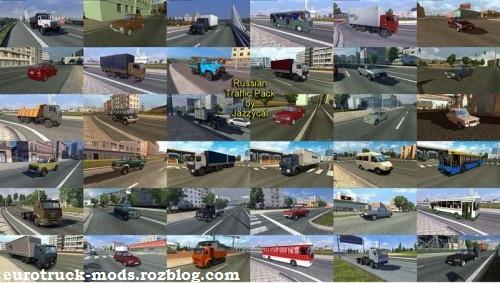 دانلود پک ماشین های روسی برای ترافیک بازی یورو تراک