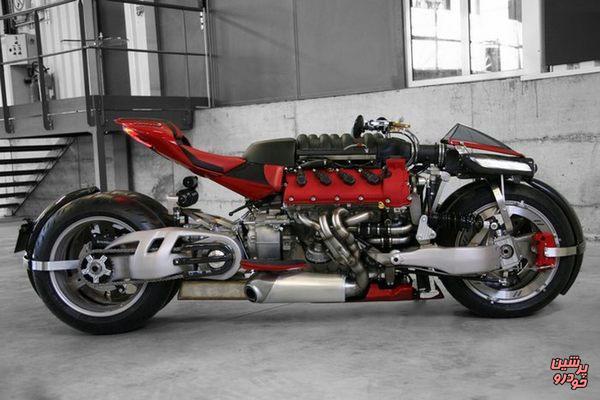 ساخت ابر موتورسیکلت فرانسوی با موتور «مازراتی» 8 سیلندر