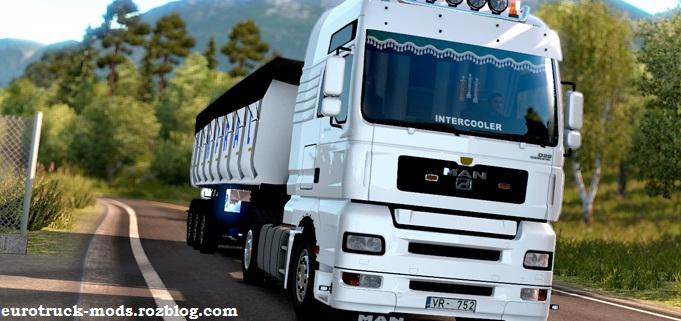 دانلود کامیون بی نظیر MAN TGA ورژن دو برای یورو تراک