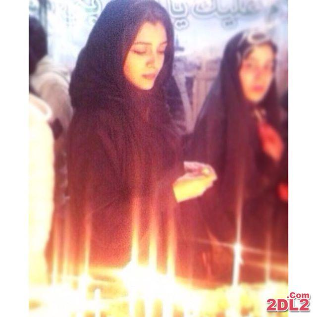 عکسی از بازیگر زن فیلم محمد رسول الله در شب شهادت حضرت فاطمه (س)