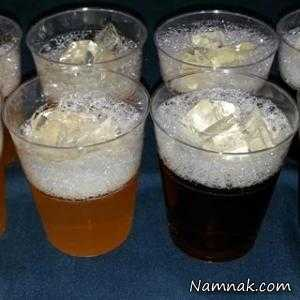 طرز تهیه ژله به شکل لیوان نوشابه پر از یخ