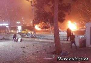 انفجار مهیب خودروی بمب گذاری شده در آنکارا + تصاویر