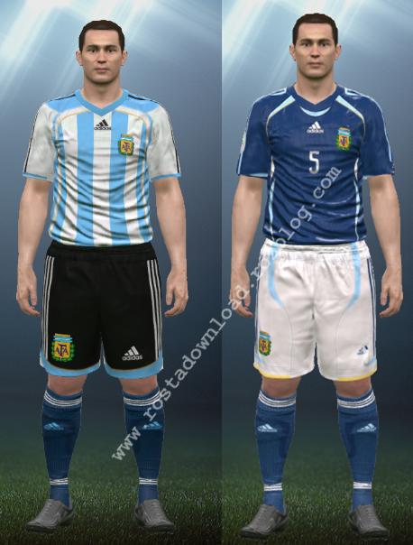 دانلود کیت کلاسیک آرژانتین جام جهانی 2006