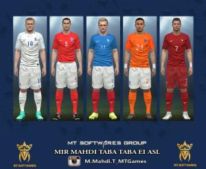 کیت 5 تیم در یورو2016