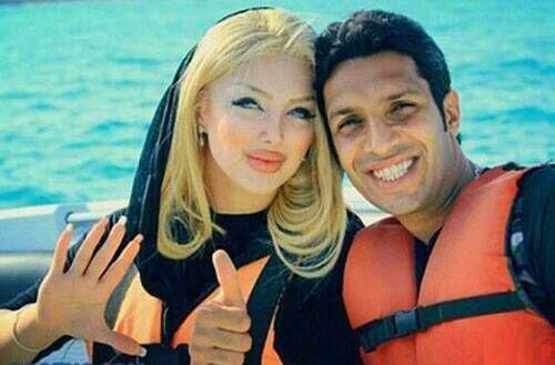 عکس جنجالی سپهر حیدری و همسرش در کیش