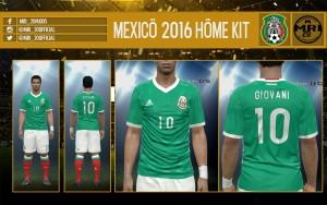 کیت مکزیک در یورو16برایpes2016