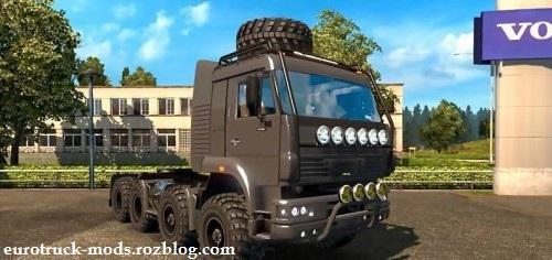 کامیون فوق العاده kamaz monster 8x8 army برای یورو تراک
