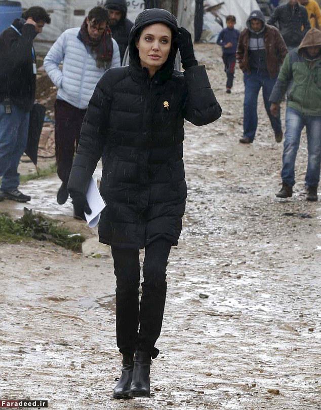 آنجلینا جولی به دیدار آوارگان سوری رفت + تصاویر