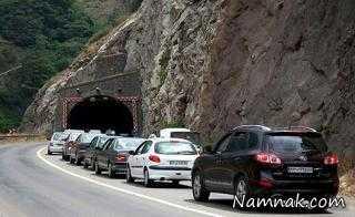 وضعیت جوی و ترافیکی در جاده های پرتردد