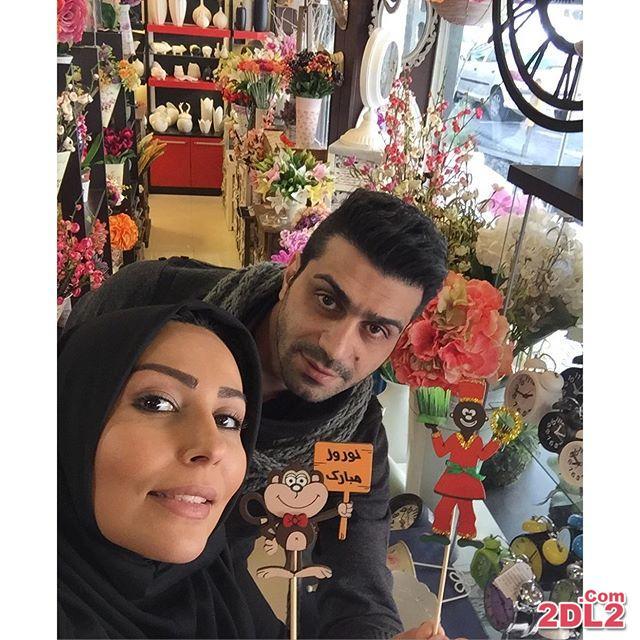 عکسی از پرستو صالحی در فروشگاه سبک خانه در حال عیدی خریدن