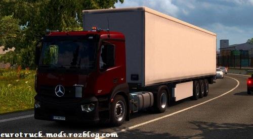 دانلود کامیون فوق العاده mercedes-benz antos 12 برای یورو تراک