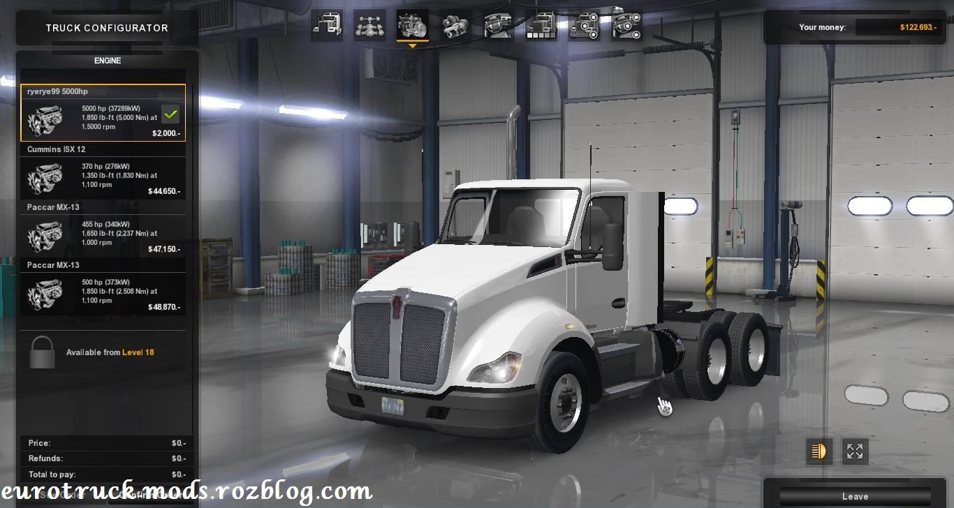 دانلود مد ابزار تیونینگ برای کامیون kenworth t680 در ats
