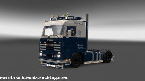 دانلود کامیون فوق العاده اسکانیا 143M برای یورو تراک