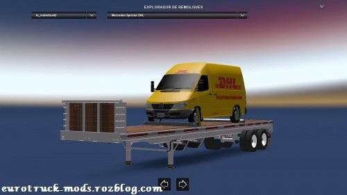 پک فوق العاده تریلر های حمل ماشین و کامیون برای یورو تراک