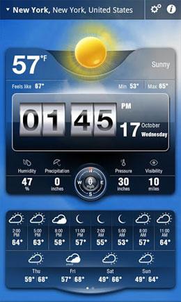 دانلود نرم افزار هواشناسی برای اندروید