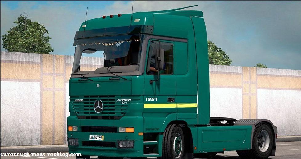 دانلود کامیون بی نظیر مرسدس بنز mp1 ورژن 2 برای یورو تراک