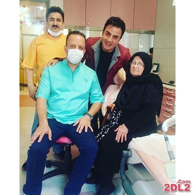 دارویش فرضیایی و مادرش در دندان پزشکی + عکس