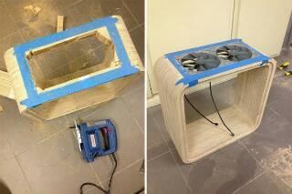 طریقه ساختن یک کیس چوبی زیبا با سیستم خنک کننده پیشرفته