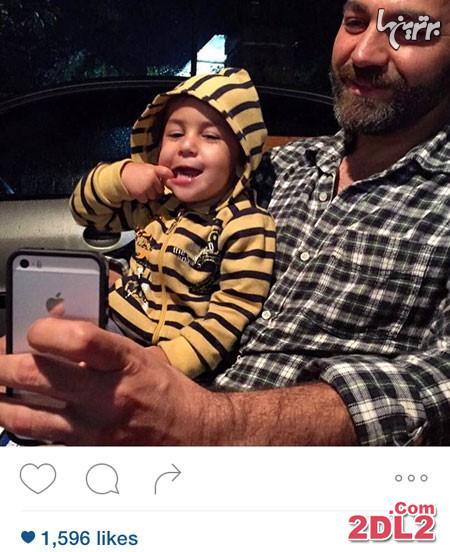 آرش مجیدی عکس سلفی از خود و دخترش منتشر کرد