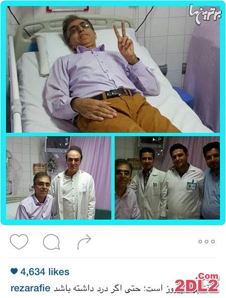 رضا رفیع در بیمارستان بستری شد