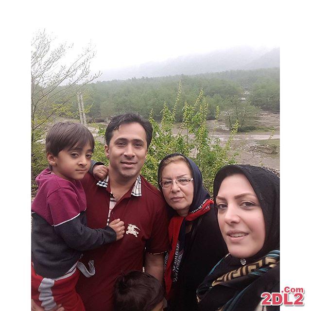 المیرا شریفی مقدم با خانواده در دامن طبیعت + عکس