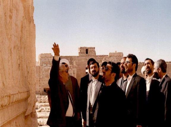 «محسن رضایی» و «عزیز جعفری» و قالیباف در «تَدمُر» سوریه+تصاویر