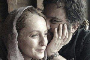 عکس خنده دار مهراب قاسم خانی با روسری و شقایق دهقان با ریش!!