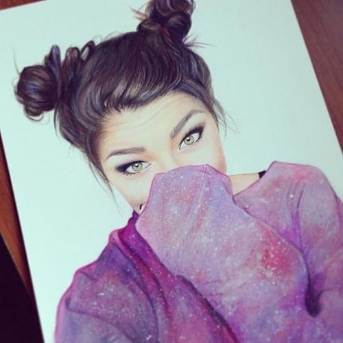 نقاشی دخترانه خوشگل 2016