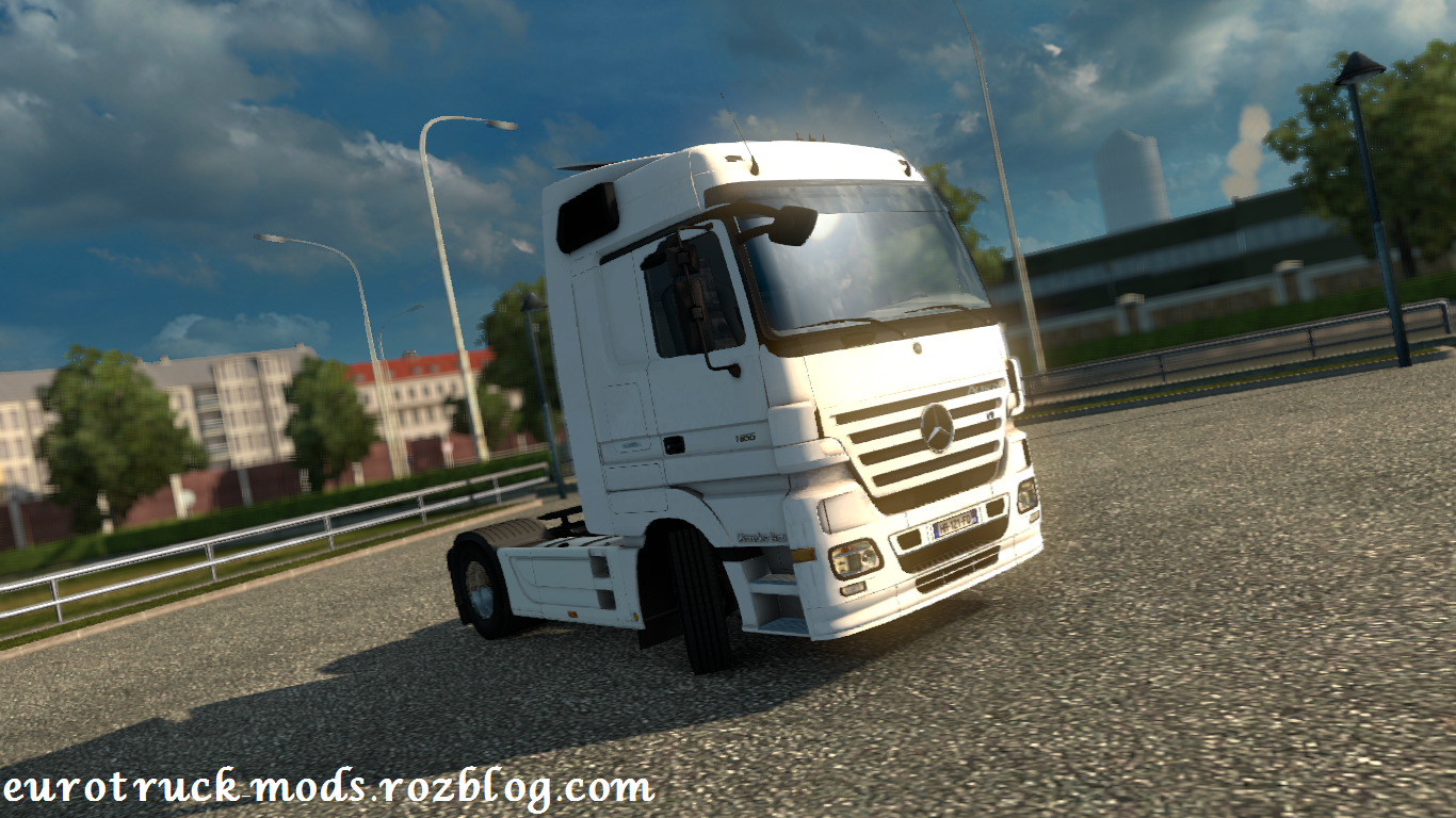 دانلود کامیون فوق العاده مرسدس بنز MP2 برای یورو تراک