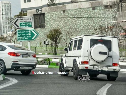 جدیدترین بنز پلاک موقت در تهران+عکس
