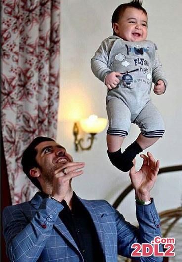 عکس جدید بازیکن تیم ملی والیبال و پسرش