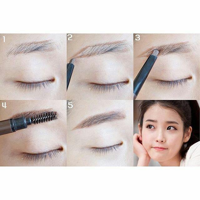 آرایش ابروی صاف و نوک تیز به روش کره ای