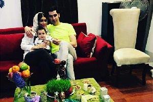عکسی جالب از شهرام محمودی و همسرش