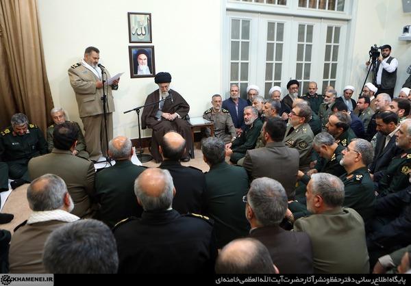 دیدار نوروزی فرماندهان ارشد نیروهای مسلح با رهبر انقلاب