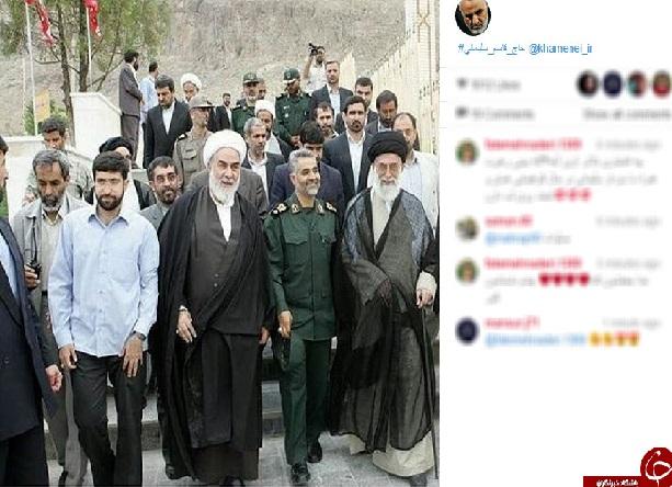 حاج قاسم در کنار رهبر معظم انقلاب + عکس