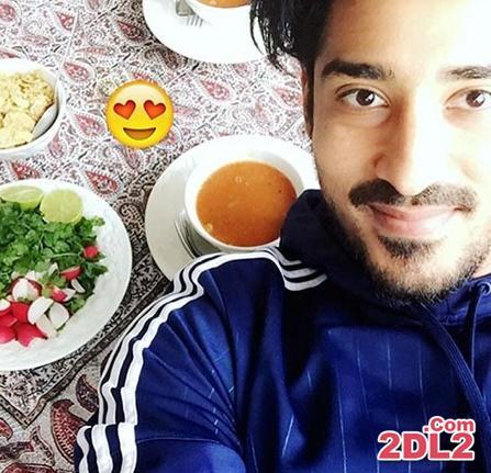 عکس سلفی رضا قوچان نژاد با هنرنمایی آب گوشت!
