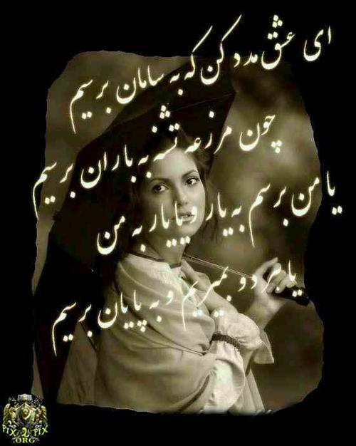 استیکر شعر فارسی