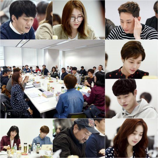 اولین جلسه فیلمنامه خوانی سریال کره ای lucky romance  با حضور Hwang jung Eum و Lee Soo Hyuk و Ryu joong yeol  👆🏻