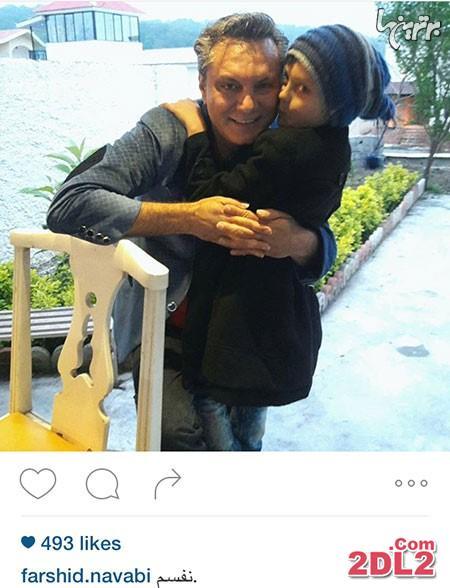 فرشید نوابی عکسی از خود در کنار پسرش را منتشر کرد
