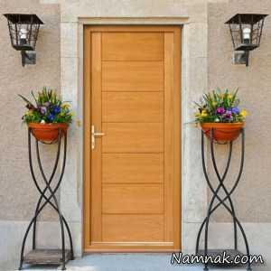40 مدل و طرح درب ورودی چوبی مدرن
