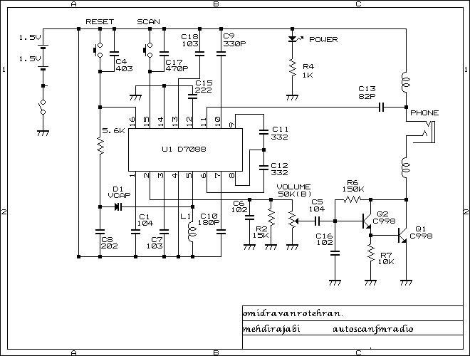 مدار گیرنده رادیویی موج FM     >> اسپارک الکترونیک <<   www.circuit.lxb.ir