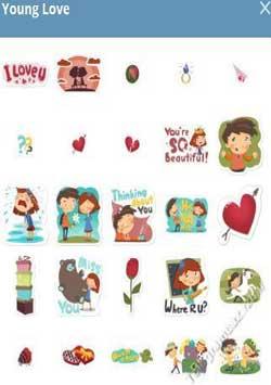 استیکر تلگرام Young Love