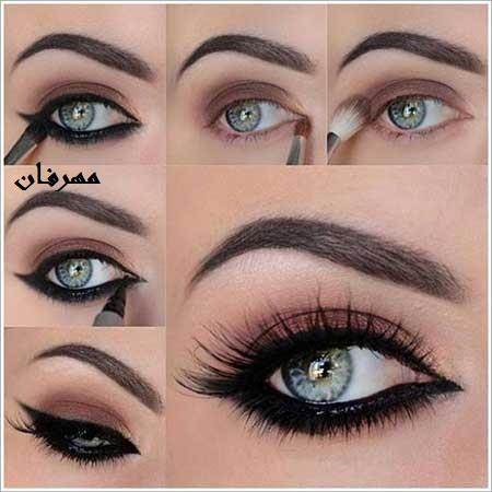 آرایش چشم مجلسی بسیار شیک و ساده+تصاویر